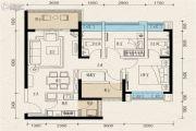 珠江青云台3室2厅2卫97平方米户型图
