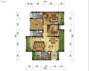 万象国际城2室2厅2卫109平方米户型图