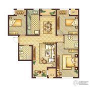 会展城上城3室2厅1卫0平方米户型图
