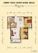 金江星城2室2厅1卫85平方米户型图
