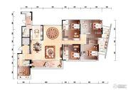 时代外滩4室2厅4卫0平方米户型图