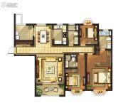 红豆香江豪庭3室2厅3卫165平方米户型图