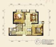 双发东城印象2室2厅1卫72平方米户型图