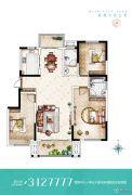 名门城3室2厅2卫127--142平方米户型图