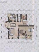 瀚海尊爵2室2厅1卫197平方米户型图