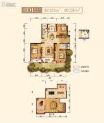 上实海上海4室2厅2卫124平方米户型图