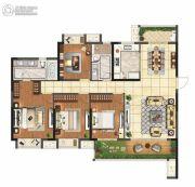 保利悦都4室2厅2卫160平方米户型图