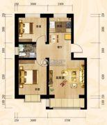 昆山・华门新都2室2厅1卫70平方米户型图