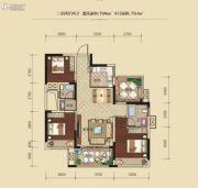 联发柳雍府3室2厅2卫96平方米户型图