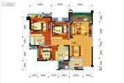 远大中央公园3室2厅2卫108平方米户型图