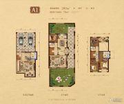 高新和�@4室3厅4卫209平方米户型图