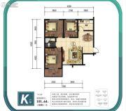 金山九泷湾3室2厅1卫101平方米户型图