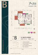 银港国际3室2厅2卫128平方米户型图