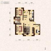 建龙・班芙小镇3室2厅1卫108平方米户型图