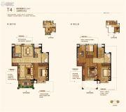 保利・西江林语3室2厅1卫110平方米户型图