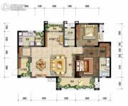 棠湖泊林城2室3厅2卫120平方米户型图