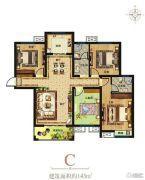 尚都国际4室2厅2卫143平方米户型图