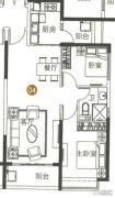 海陵岛恒大御景湾2室2厅1卫92平方米户型图