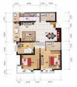 融城优郡3室2厅2卫108平方米户型图