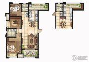 康桥悦岛3室2厅2卫124平方米户型图