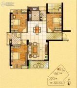 金紫世家3室2厅2卫126平方米户型图