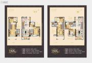 万科尚城4室2厅2卫88平方米户型图