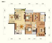 路桥锦绣国际3室2厅2卫0平方米户型图
