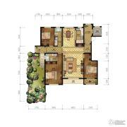 清山公爵城3室2厅2卫161平方米户型图