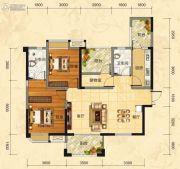 福庆花雨树3室2厅2卫116平方米户型图