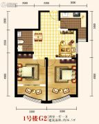 城关江南明珠2室1厅1卫86平方米户型图