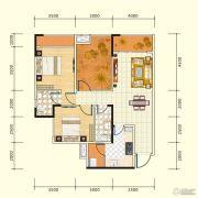 中盛・财富中心3室2厅2卫102平方米户型图