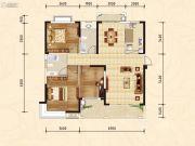 随州新城大自然3室2厅2卫127--84平方米户型图