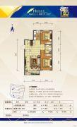 中天御品2室2厅1卫89平方米户型图
