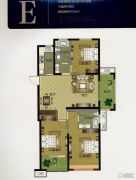 华明星海湾3室2厅2卫126平方米户型图