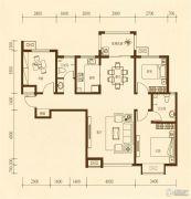 东方太阳城3室2厅1卫107平方米户型图