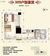 新城市学府1室1厅1卫36平方米户型图