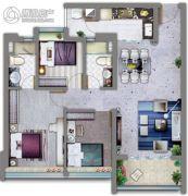 祈福缤纷汇3室2厅2卫90平方米户型图