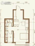 兴隆御府1室1厅1卫52平方米户型图
