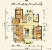 万达西双版纳国际度假区4室2厅3卫143平方米户型图
