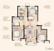 万科桃花源3室2厅1卫92平方米户型图