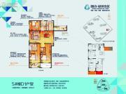 朗诗绿色街区3室2厅2卫137平方米户型图