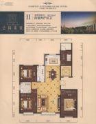 公园柒�4室2厅2卫163平方米户型图