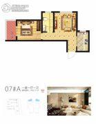 启迪国际城・逸居1室1厅1卫0平方米户型图