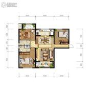 天朗玖悦都3室2厅1卫122平方米户型图