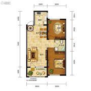 五矿・弘园2室2厅1卫90平方米户型图