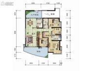 天元翡翠国际2室2厅2卫153平方米户型图