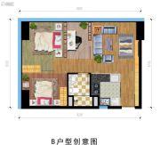 富驰大厦2室2厅1卫0平方米户型图