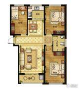 清山公爵城3室2厅1卫117平方米户型图