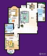 天赐椿城一期嘀嗒2室2厅1卫97平方米户型图