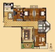 新龙御都国际4室2厅2卫155平方米户型图